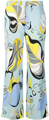 Emilio Pucci Frida Print Cropped Straight Leg Trousers