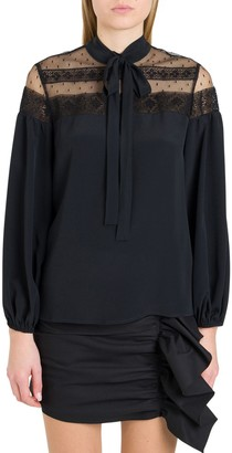 RED Valentino Lace Pussy Bow Blouse