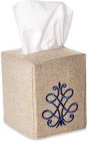 Jacaranda Living Scroll Tissue Box Cover, Cobalt