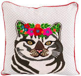 Karma Living Cat Flowers Pillow