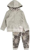 River Island Mini boys grey fleece hoodie and jogger set