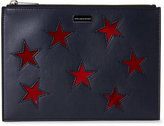 Stella McCartney Navy & Red Stars Zip Pouch