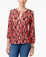 MICHAEL Michael Kors Printed Keyhole Top, a Macy's Exclusive Style