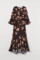 H&M Creped Ruffled Dress