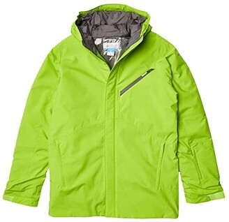 Columbia Kids Winter District Jacket (Little Kids/Big Kids) (Collegiate Navy/Bright Emerald) Boy's Clothing