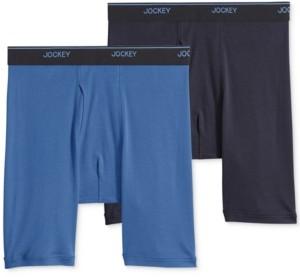 Jockey Big Man 2 pack Staycool+ Cotton Midway Boxer Briefs