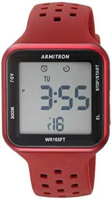 Armitron Sport Unisex Digital Chronograph Dark and Black Perforated Silicone Strap Watch