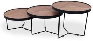 Calibre Furniture Holm Coffee Table Black/walnut 60cm X 41cm