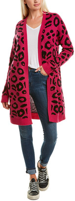 InCashmere Animal Print Wool & Cashmere-Blend Cardigan