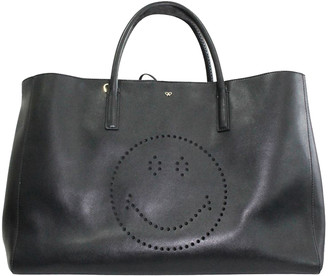 Anya Hindmarch Black Leather Tote Bag