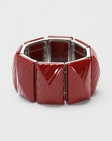 Faceted Red Stretch Bracelet