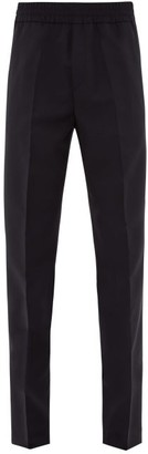 Acne Studios Ryder Elasticated Waist Wool-blend Trousers - Mens - Navy