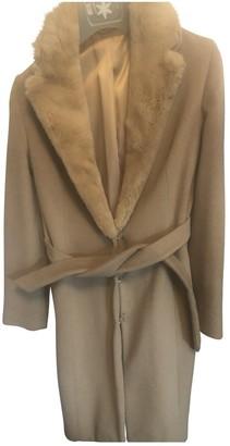 Blumarine Beige Cashmere Coat for Women