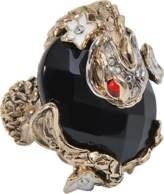 Roberto Cavalli Carp onyx ring
