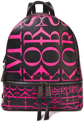 MICHAEL Michael Kors Logo-print Leather Backpack