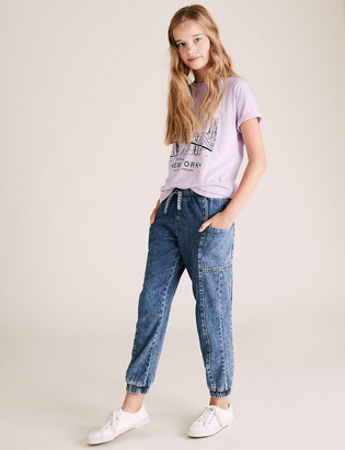 Marks and Spencer Denim Joggers (6-16 Yrs)
