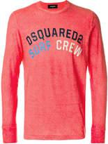 DSQUARED2 Surf Crew logo T-shirt
