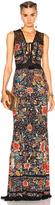 Roberto Cavalli Printed Knit Maxi Dress