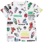 Kenzo Logo Party Printed Cotton Jersey T-Shirt
