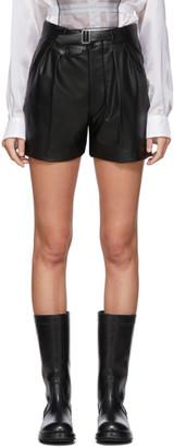 Maison Margiela Black Faux-Leather Shorts