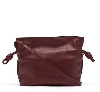 Loewe Flamenco Mini Drawstring Leather Cross-body Bag - Burgundy