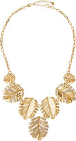 Lydell NYC Crystal Leaf Drop Necklace