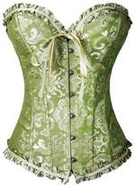 Sexyfashion Women's Brocade Steampunk Bustier Corset Top G-string Size 2XL