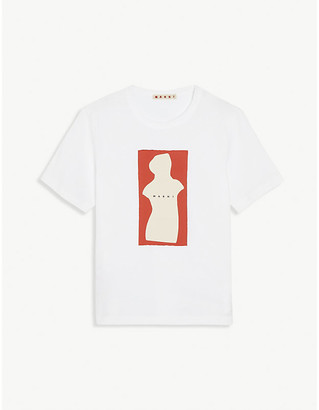 Marni Graphic logo print cotton T-shirt 4-14 years