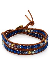 Chan Luu Sodalite Mix Beaded Wrap Bracelet
