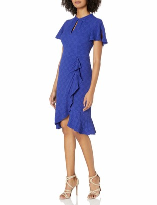 Nanette Lepore Women's Second act Flutter Sleeve Textured Dress