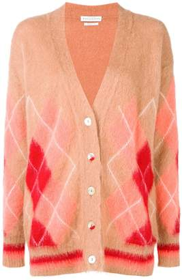 Ballantyne diamond pattern cardigan