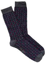 Ted Baker Geo Pattern Crew Socks