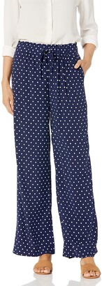 Rafaella Women's Polkadot Print Pull-On Fluid Pant