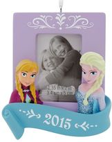 Hallmark Disney's Frozen Sisters 2015 Picture Frame Christmas Ornament by