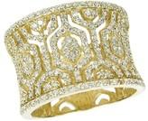 Effy Jewelry Effy D'Oro 14K Yellow Gold Diamond Maze Ring, 0.79 TCW