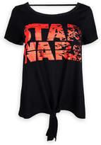 Disney Star Wars: The Last Jedi Logo Tie-Front Top for Women