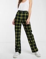 Asos Design DESIGN straight leg check cord pants