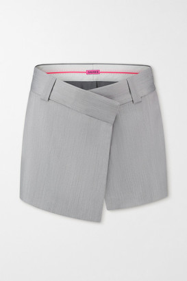 GAUGE81 Xico Wool-blend Wrap Mini Skirt - Gray