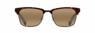 Maui Jim Sunglasses | Kawika H257-16C25 | Tortoise With Antique Gold Fashion Frame Frame Polarized Hcl Bronze Lenses with Patented PolarizedPlus2 Lens Technology