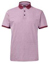 Burton Mens Pink Ditsy Printed Polo Shirt