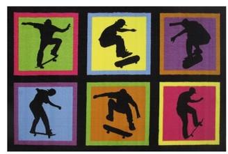 "Zoomie Kids Corina Skateboarding Area Rug Rug Size: 1'7"" x 2'5"""