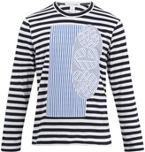 Comme des Garcons Long-sleeved striped cotton T-shirt