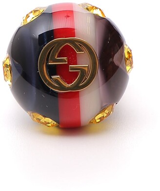 Gucci Vintage Style GG Logo Ring