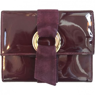 Cartier Burgundy Patent leather Wallets