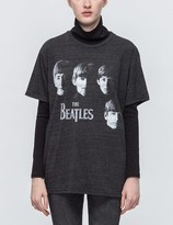 TOUR MERCH The Beatles Faces Charcoal Tri-blend T-shirt