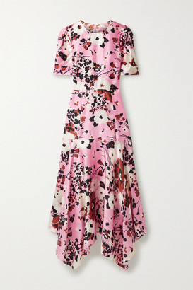 Veronica Beard Connie Floral-print Silk-blend Faille Maxi Dress - Baby pink