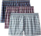 Fruit of the Loom Men's Big-Tall 3pk 4 Panel Woven (Tartan) Boxer