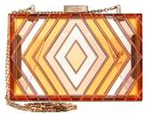 Valentino Native Couture Acrylic Box Clutch.