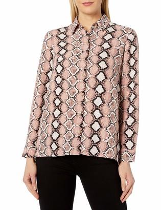 Jones New York Women's Button FRNT Hi Low Shirt W/Back Shirring