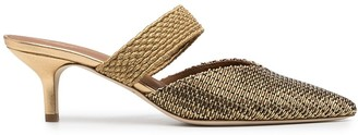 Malone Souliers Maise woven slip-on pumps